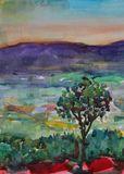 Watercolor Landscape-176