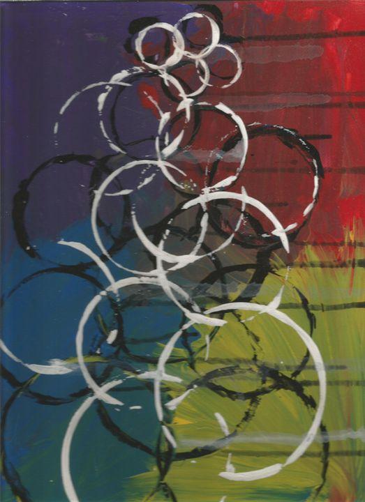 raining circles - Bomb Art