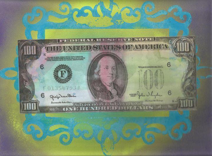 100 bill - Bomb Art