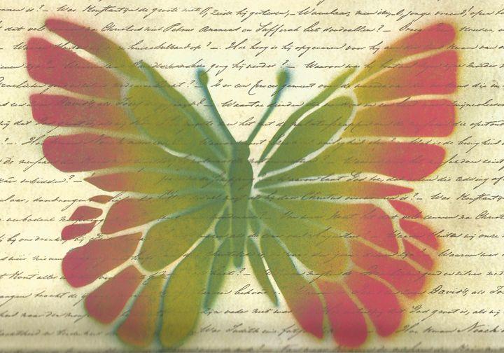 butterfly script - Bomb Art