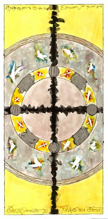 """Mandala: The Yes in No #L06"" - Ron Hartgrove"