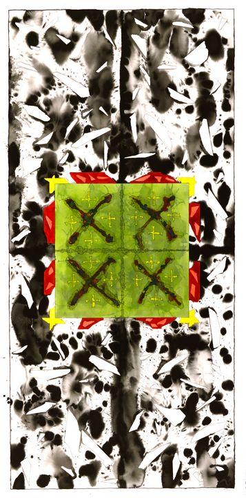 """Mandala: The Yes in No #L19"" - Ron Hartgrove"