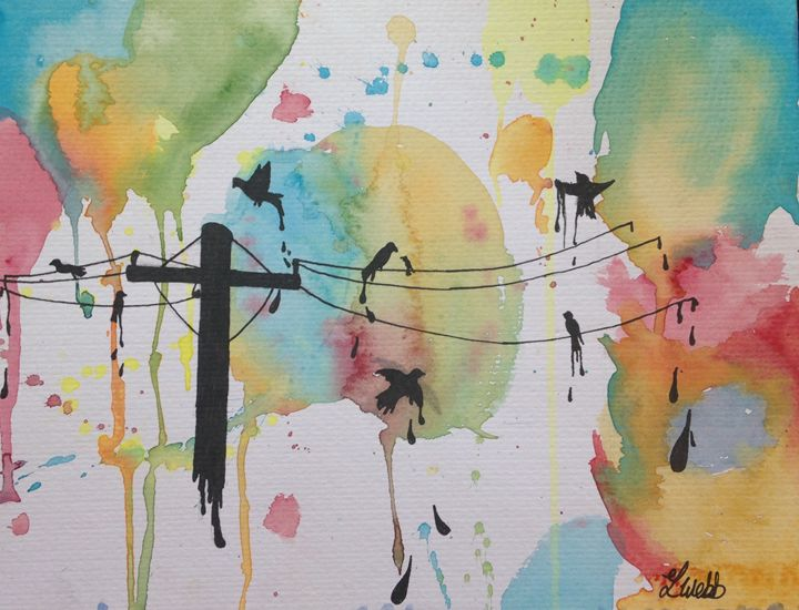 Birds on a wire - Bellart