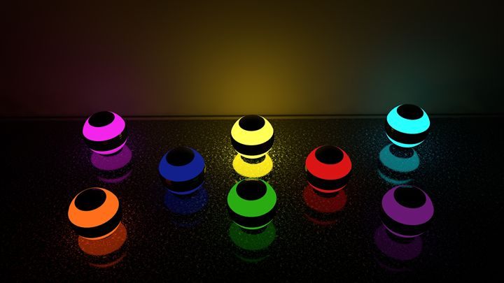 Glowing marbles 2 - beam