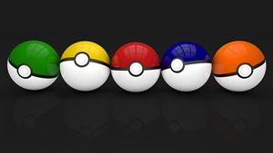 Multicolor pokeballs