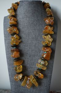 Baltic Amber turquoise necklace - Manuela Moldovan