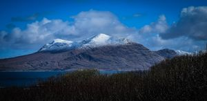 April Snow on Twelve Bens Mountains