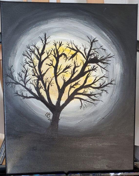 Bare Tree in the Night - Ellen Orellana