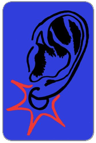 LISTEN BLUE STICKER - STELLACIOUS ART