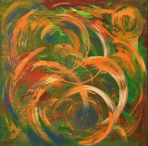 Circles, abstract art.