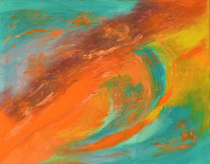 That Day Sunset. Turquoise Orange ab - Julia Leon