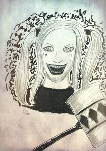 Harley Quinn Ink and Marker