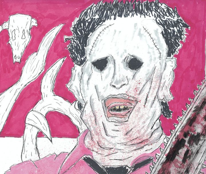 Leatherface with Chainsaw - Izzo Artworks (Anthony Izzo)