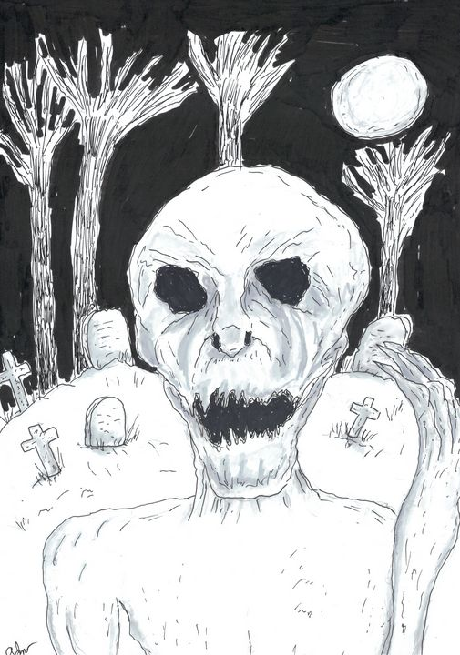 Graveyard Ghoul Sketch - Izzo Artworks (Anthony Izzo)