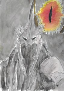 Watercolor Witch King of Angmar