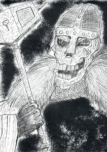 Skull Warrior With Hammer