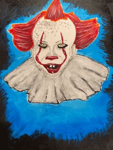 Pennywise the Clown Acrylic Painting