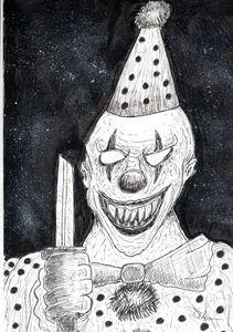 Horror Clown Sketch
