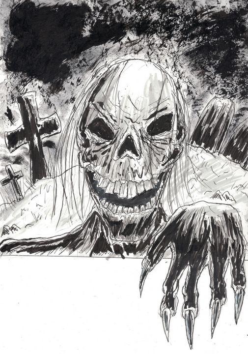 Graveyard Skull - Izzo Artworks (Anthony Izzo)