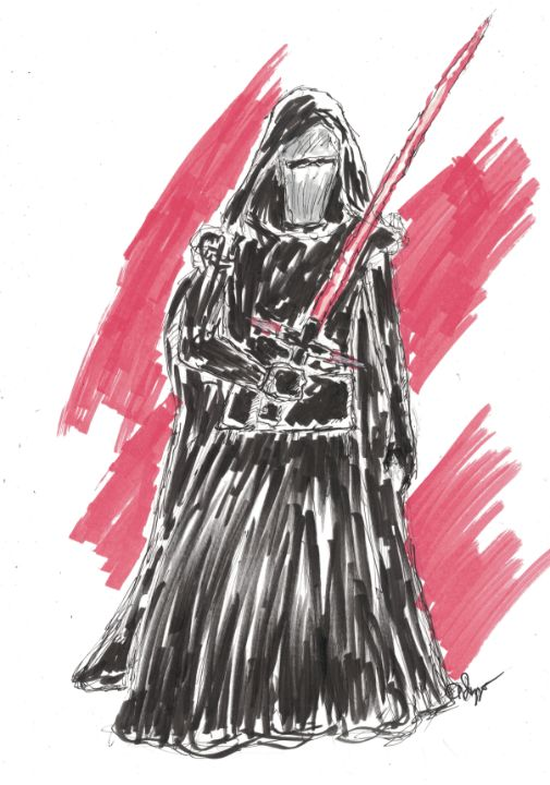 Kylo Ren Ink and Marker Sketch - Izzo Artworks (Anthony Izzo)