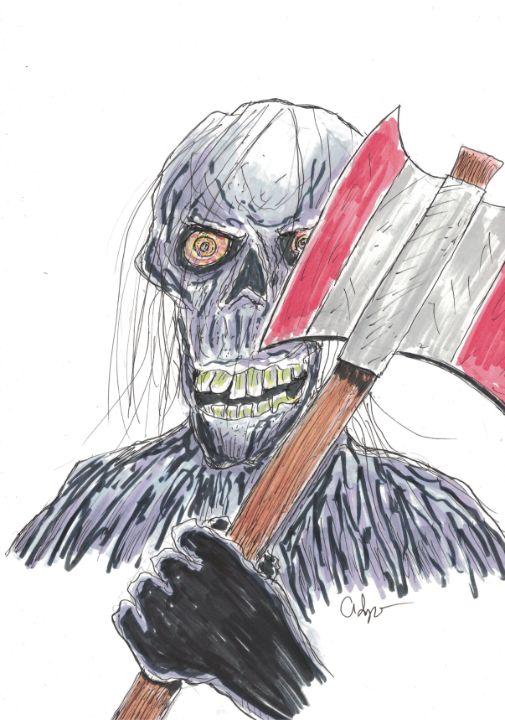 Axe Wielding Zombie Sketch - Izzo Artworks (Anthony Izzo)