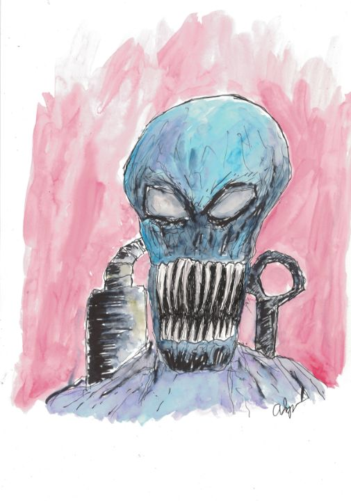 Alien Ink and Watercolor - Izzo Artworks (Anthony Izzo)