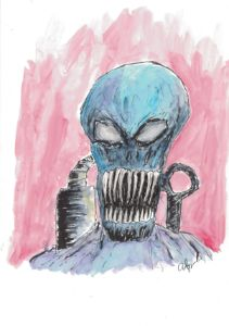 Alien Ink and Watercolor