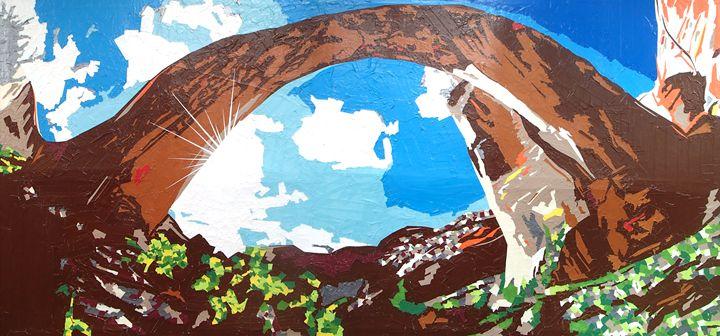 Tapeart of Rainbow Arch - Ezetary Art