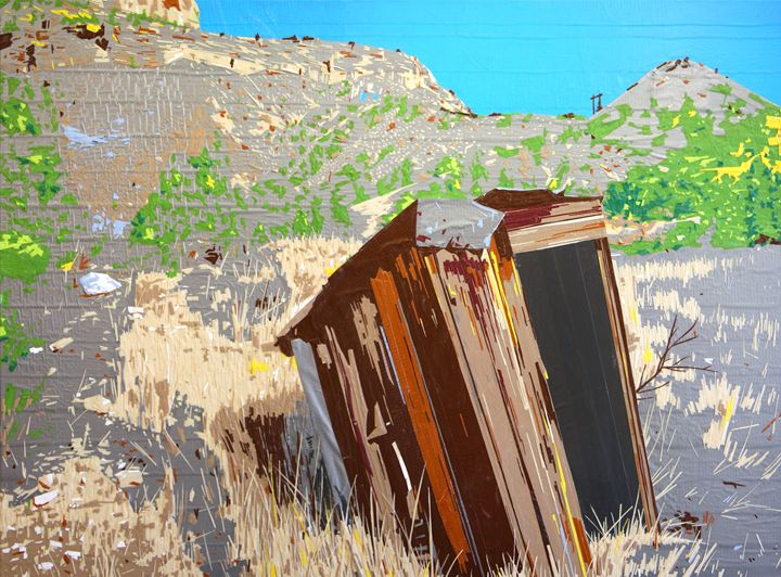 Tapeart of Spring Canyon - Ezetary Art