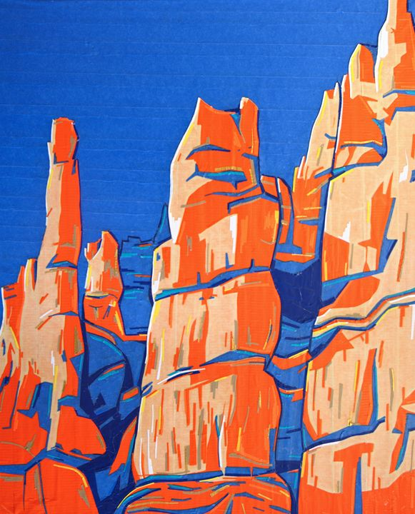 Tapeart of Bryce Canyon - Ezetary Art