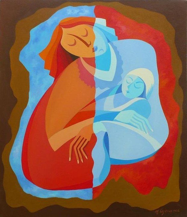 Maternity - Mircea Cojocaru paintings