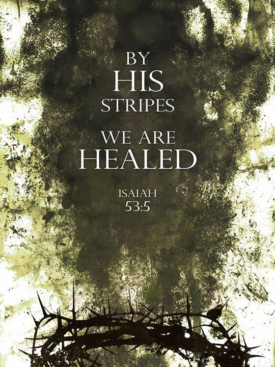 By His Stripes (green) - WelbornWorks