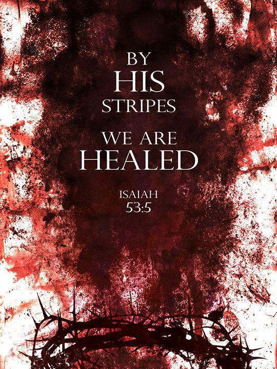 By His Stripes (red) - WelbornWorks