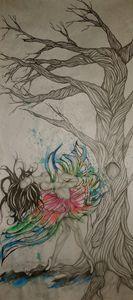 Dancer and Oak Tree