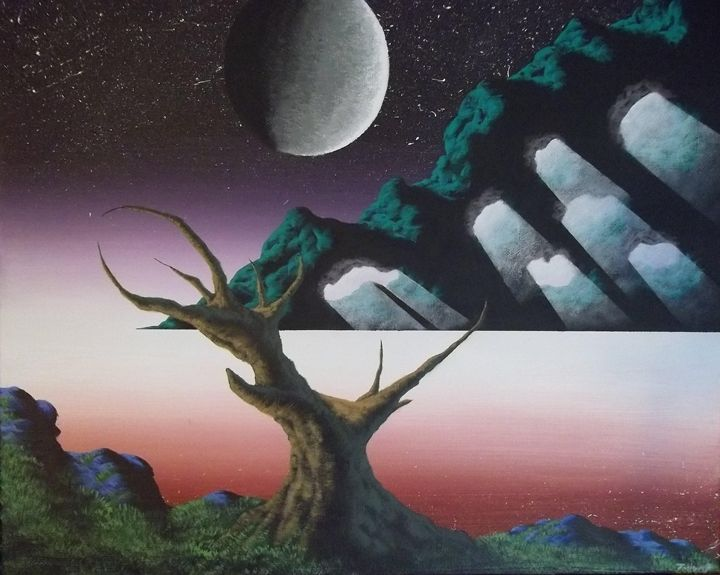 Forgotten Moon - Acrylics By: J-Hump