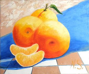 3 oranges - Gallery arts for sale