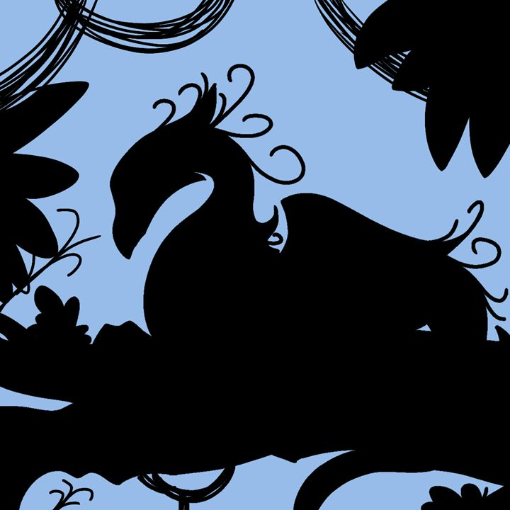 Dragon Silhouette (Blue) - Farrayin