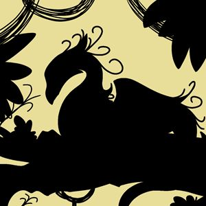 Dragon Silhouette (Yellow)