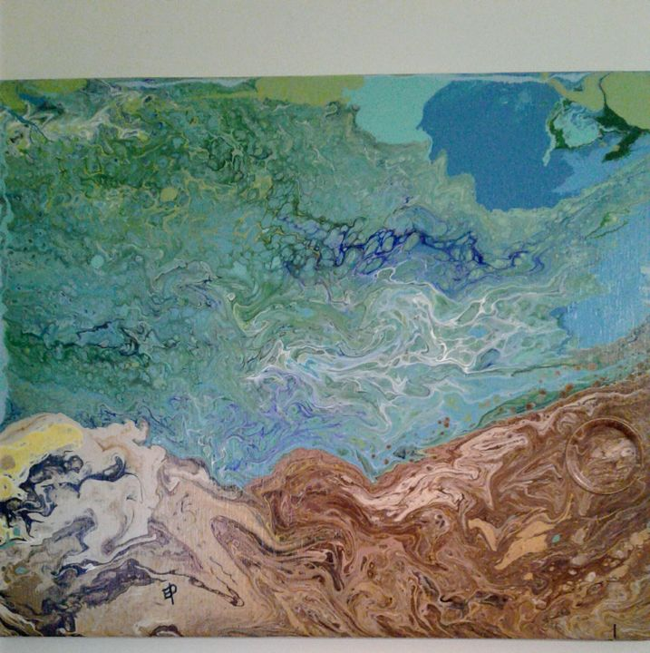 Earth meets Land - Elly's Paintings