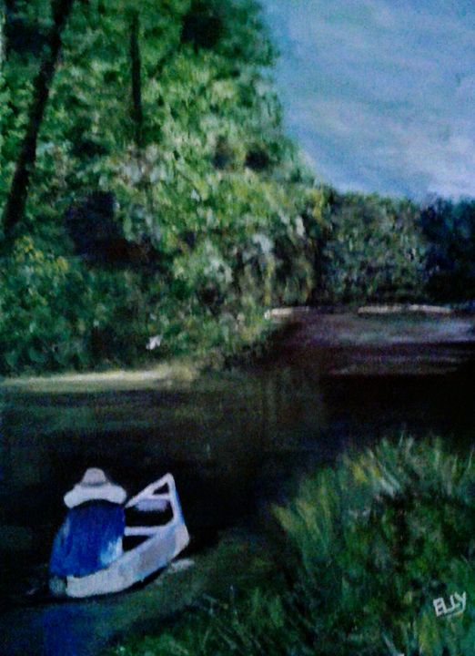 On the canal - Elly's Paintings