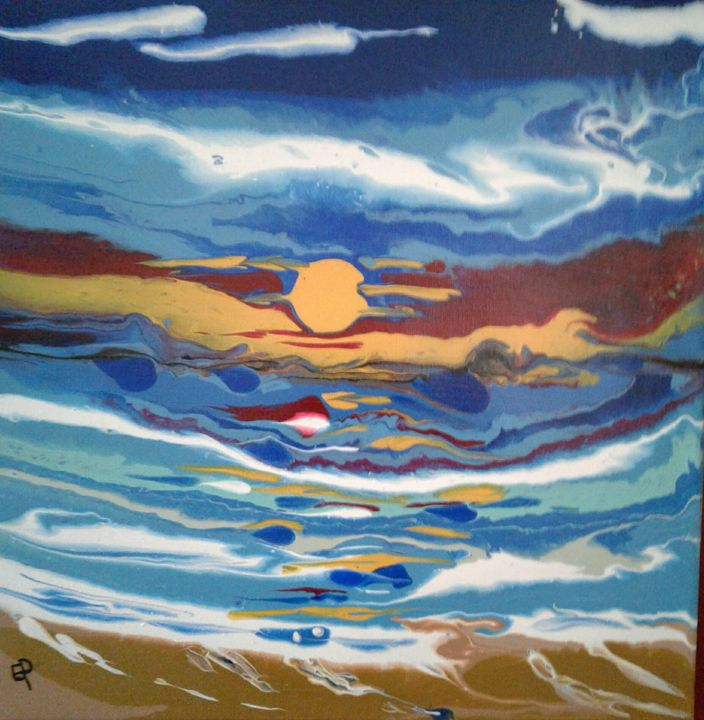 Beach sunset - Elly's Paintings