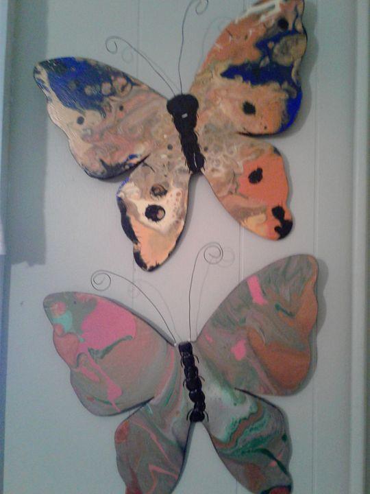 Handmade Wooden butterflies - Elly's Paintings