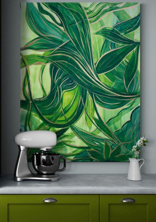 Greens in Gold, Original Art - Anna Sizykh