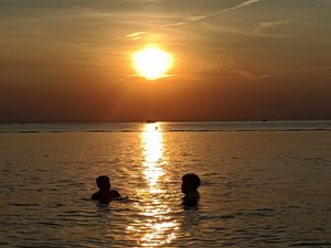 Golden Sunset Swim