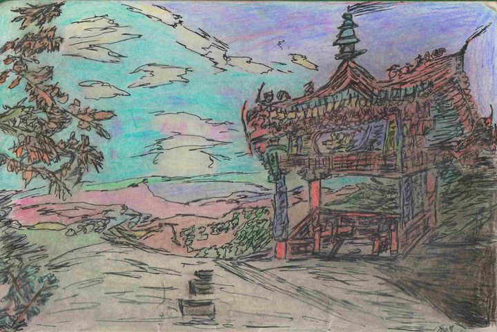 Chinese landscape - House of l