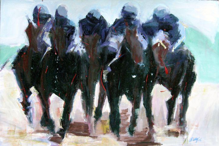 Horse Race Image IV; Presence - FineArtbyMichaelKelly