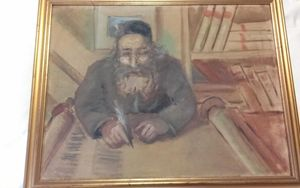 Rabbi Scholar Painting