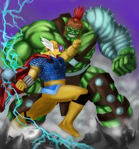 The Hulk v Thor