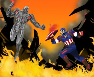 Captain America battles Ultron