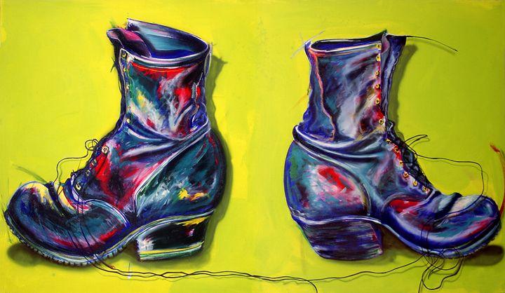 Grandpaws boots - Chad Maxwell-fine artist